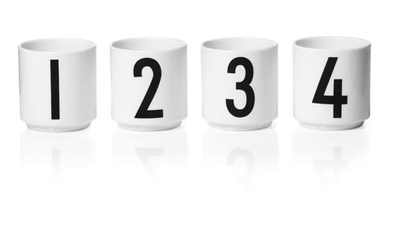 Design Letters - Espresso Porcelain Cup Set 1234 - White (10201300WHITE)