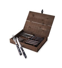Gense - Old Farmer Classic Steak Cutlery 4 Set - Brown Wood/Steel (704893)