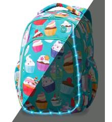 Coolpack - Skoletaske med LED-belysning - Cupcakes