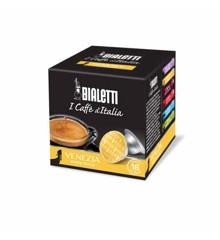 Bialetti - Espresso-Kapseln - Venezia süße rGeschmack - 8 Packungen mit je 16 Stück - Gelb