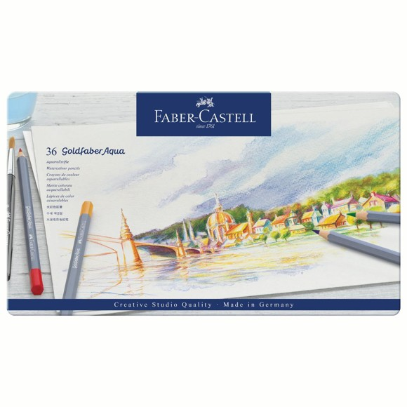 Faber Castell - Goldfaber akvarel tin, 36 pc (114636)