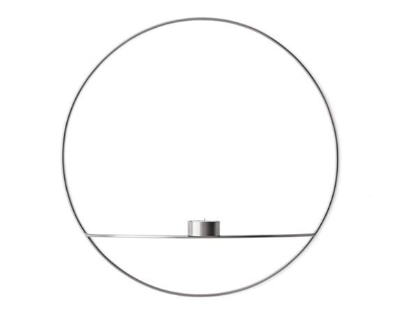 Menu - POV Circle Fyrfadsstage Large - Sølv