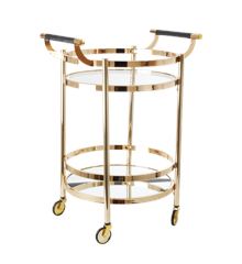 Rice - Cocktail Cart in Rose Gold Round