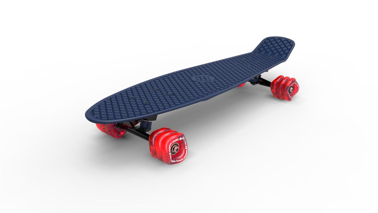 Shark Wheel - Skateboard, Blau