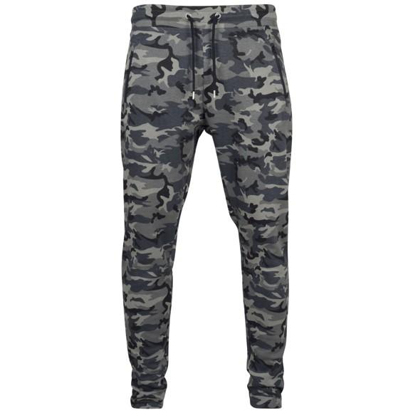 Urban Classics - ATHLETIC INTERLOCK Sweatpants dark camo
