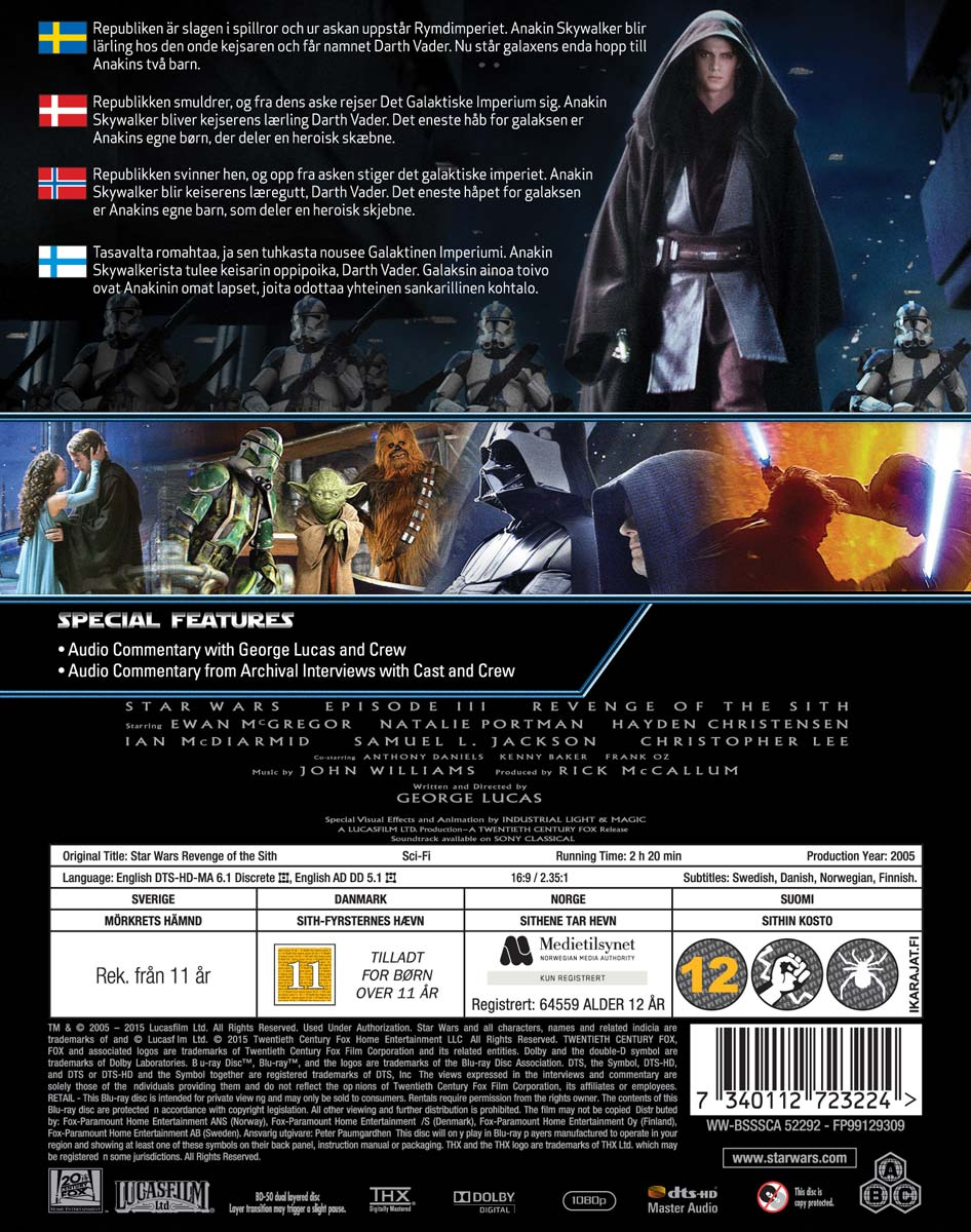 Bol Com Star Wars Episode Iii Revenge Of The Sith Blu