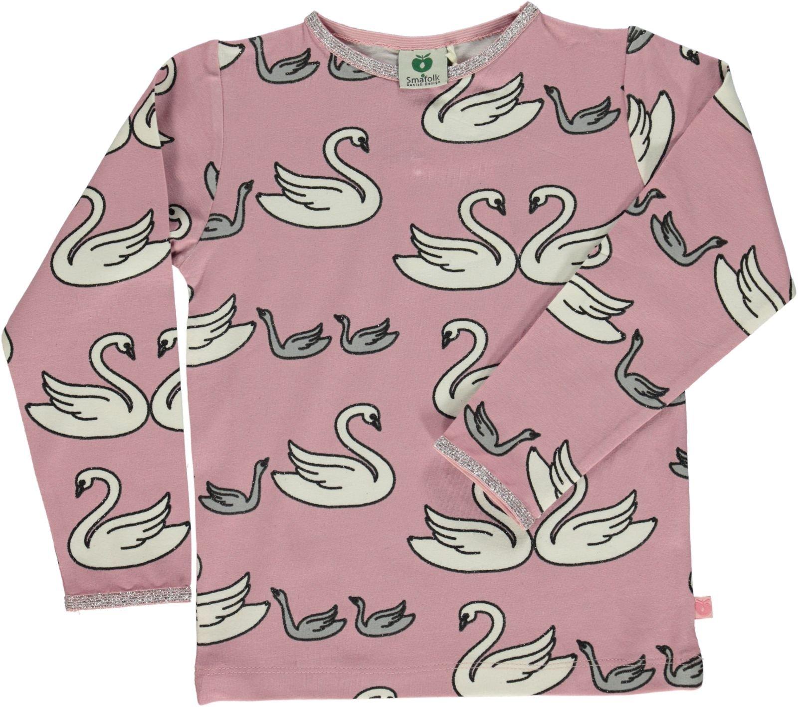 Småfolk - T-Shirt w. Swan Print