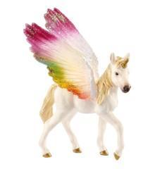 Schleich - Regnbue-enhjørning med vinger, føl (70577)