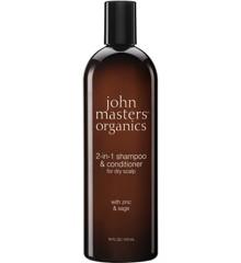 John Masters Organics - Zinc & Sage Shampoo Med balsam 473 ml
