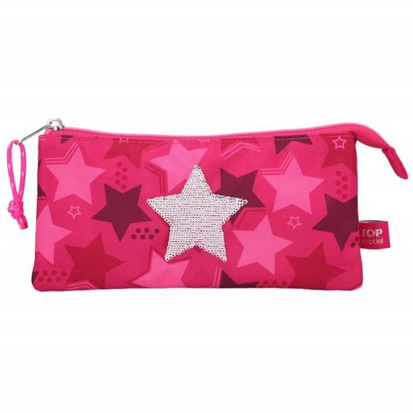 Top Model - Pencil Case w/Sequin Star - Pink (0010718)