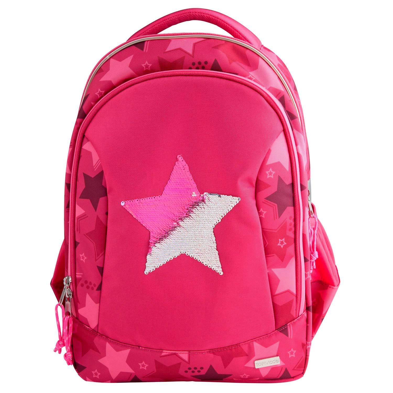 Top Model - School Bag w/Sequin Star - Pink (0010722)