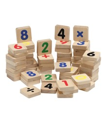 KREA - Træmagneter med tal og tegn