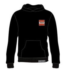 Minecraft TNT Badge Black Hoodie 9-11 Age