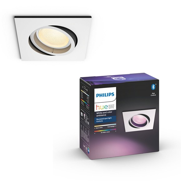 Philips Hue - Centura recessed white - Squared - White & Color Ambiance