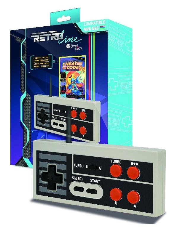 Steelplay Retro Line - Edge Gamepad - NES Classic Mini + Cheat Code Book