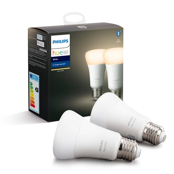 Philips Hue - E27 2-Pack  - Warm White - Bluetooth