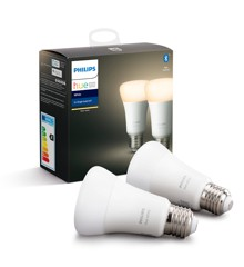 Philips Hue - E27 2-Pack  -  White - Bluetooth