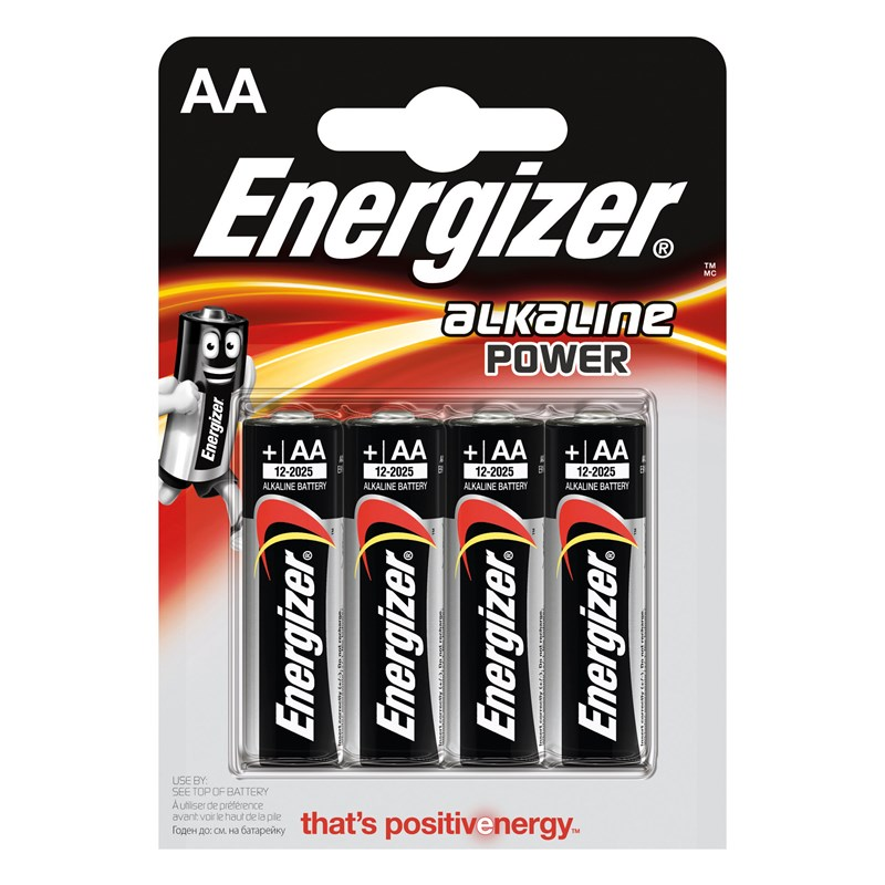 Energizer - Batteri AA/LR06 Alkaline Power 4-Pack