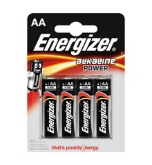 Energizer - Batteri AA/LR06 Alkaline Power 4-Pak