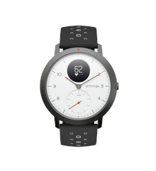 WITHINGS - Steel HR w/Grey+Blu leath Strap