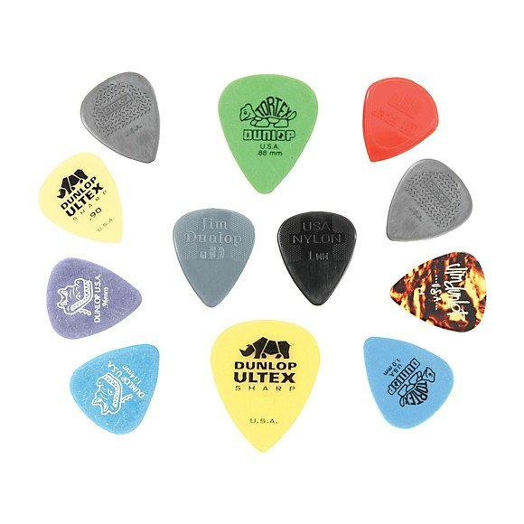 Dunlop - Variety Pack - Guitar Picks - 12 Pack (Medium/Heavy Assorted Sizes)
