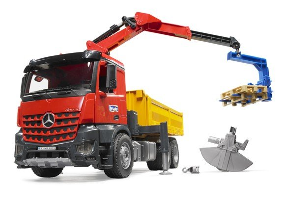 Bruder - MB Arocs Construction Truck with Crane and Accessories (BR3651)