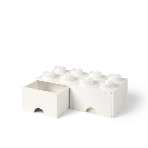 Room Copenhagen - LEGO Brick Skuffekasse 8 - Hvid