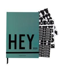 Design Letters - Hey Bog Kalender 2020 - Grøn
