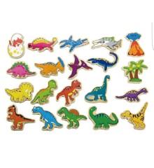Viga - Magneter i Træ - Dinosaur