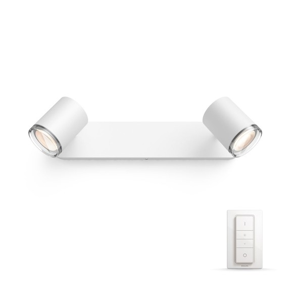Philips Hue - Adore Bathroom 2-Spot Light - White Ambiance