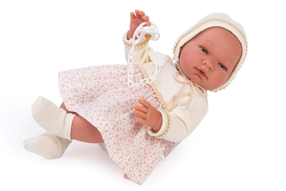 Asi dolls - Maria doll in dress with small flowers, 43 cm