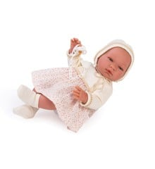 Asi dukker - Maria dukke med creme kjole med små blomster, 43 cm