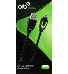 Xbox One - LED Controller Charge Cable 3m (ORB)