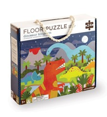 Petit Collage - Floor puzzle with Dinosaur Kingdom, 24 pcs