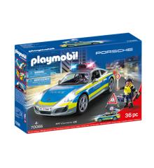 Playmobil - Porsche 911 Carrera 4S Police - White (70066)