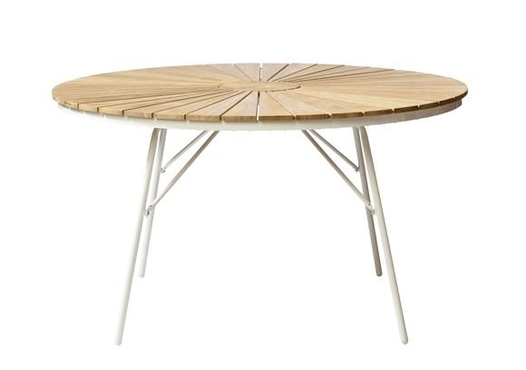 Cinas - Hard & Ellen Garden Table Ø 110 cm - Aluminium/Teak (2520009)