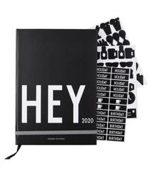 Design Letters - Hey Bog Kalender 2020 - Sort