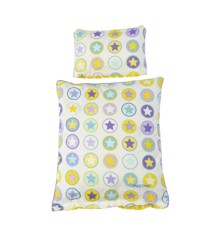 Smallstuff - Doll bedding - Yellow  circle star (73008-4)