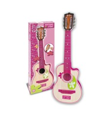 Bontempi - Pink Wooden Guitar with 6 strings, 70 cm (207071)