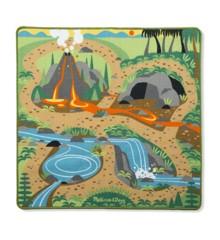 Melissa & Doug - Legetæppe - Forhistorisk Landskab med 4 Dino'er