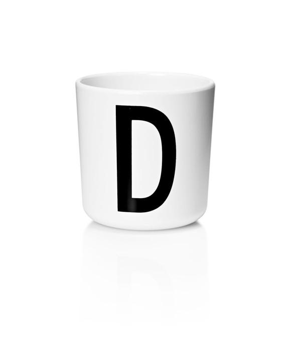 Design Letters - Personal Melamin Kop D - Hvid