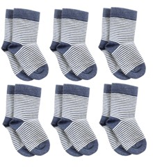 Smallstuff – 6 pck  Ancle Sock – Striped Jeans Melange