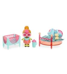 L.O.L. Surprise - Furniture with Doll - Soveværelse med Neon Q.T.