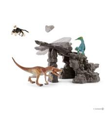 Schleich - Dinosaurussæt med hule (41461)