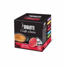 Bialetti - Espresso-Kapseln - Roma intensiver Geschmack - 8 Packungen mit je 16 Stück - Rot