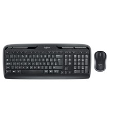 Logitech - Wireless Combo MK330 Mouse + Keyboard - Nordic Layout