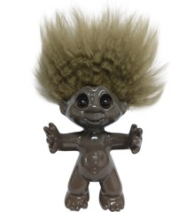 Good Luck Troll - Gjøl Trold 9 cm - Brown/Brown (93396)