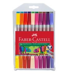 Faber-Castell - Tyk/Tynd tusser, 20 stk (151119)