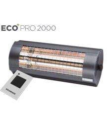 Solamagic - 2000 ECO+ PRO ARC Heater With remote  - Antracite