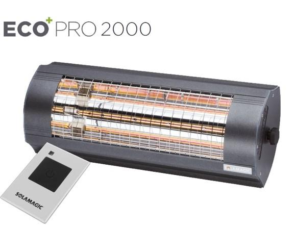 Solamagic - 2000 ECO+ PRO ARC Heater With remote  - Antracite